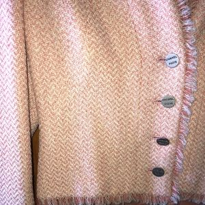Chanel light peach tweed evening/daytime jacket